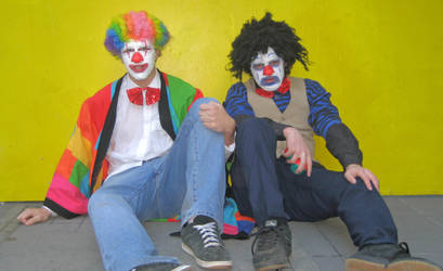 Two Clowns Equals Something by LuxceGirl
