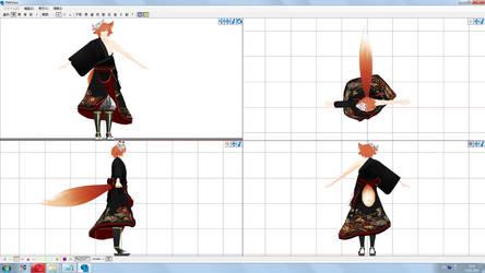 MMD WIP: Hamming kimono vers2 by KlaidAstoria