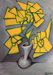 Flowers and vase by SamsonBHS