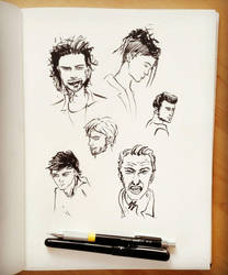 An other quick faces sketches by Rogaan