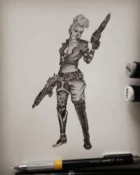 Cyberpunk girl by Rogaan