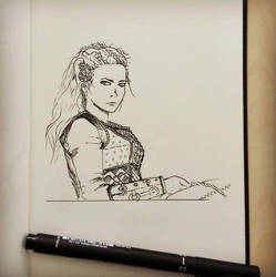 Quick sketch of Lagertha from Vikings by Rogaan