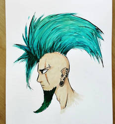 Watercolored punk! by Rogaan
