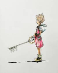 Quick fan art of Sora by Rogaan