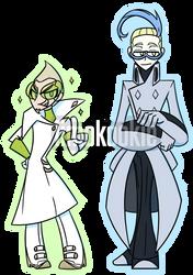 Faba and Colress Chibis by iimokookie