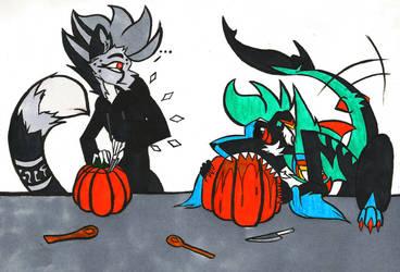 Flufftober - 29 - Pumpkin Carving by iimokookie