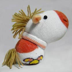 Horse - little sock doll by httpecho