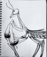 -Inktober- Mantis by Demon-Seahorse