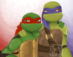 Raph and Don by SofiaMarshall