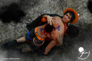 ACE cosplay Remake with Luffy by vega147