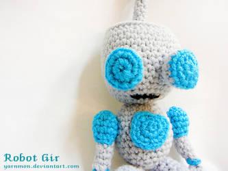 Robot Gir Amigurumi by yarnmon