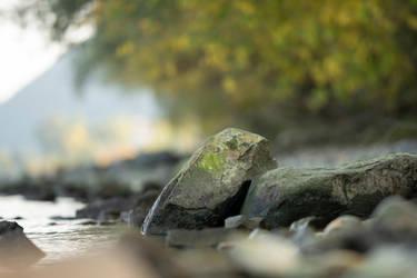 Rocks at the River 1 by Lakela