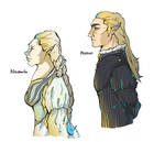 Royal elven-pair by MeSandra