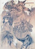 Blade Under Mask Sketchdump by Marcianek
