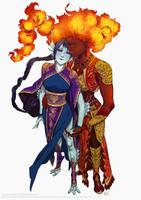 Commission: Ushio and Amalya by Marcianek