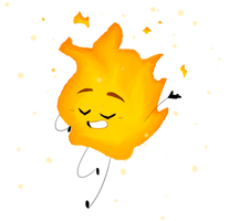 BFDI month day 1: Firey by Redkitty34