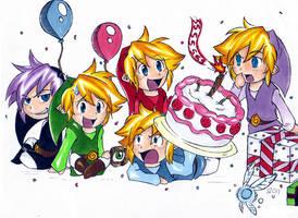 Four Swords Happy Birthday by cartoonimedeo
