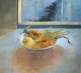 Still life with an onion by Ragdollar