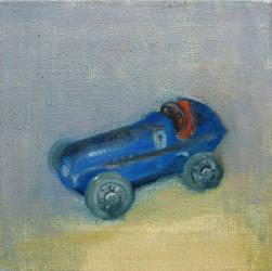 Old racing car toy by Ragdollar