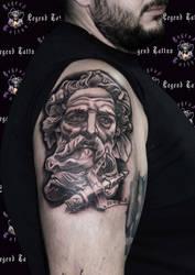 poseidon tattoo by legendtattoo
