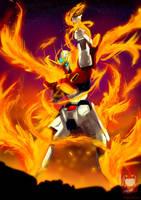 Try Burning Gundam by ibrahammoizoos