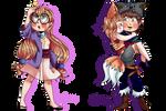 Chibi commissions! by Papabendita