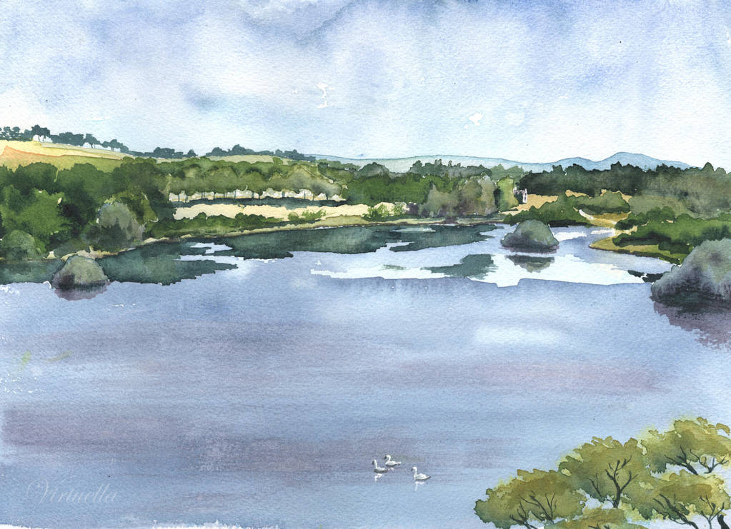 The Loch at Linlithgow by Virtuella