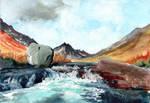 Blue Depths of Glen Rosa by Virtuella