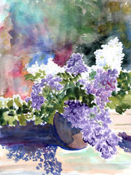 Lilacs and Hawthorn by Virtuella