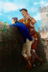 Lavellan and Dorian by ChikKV