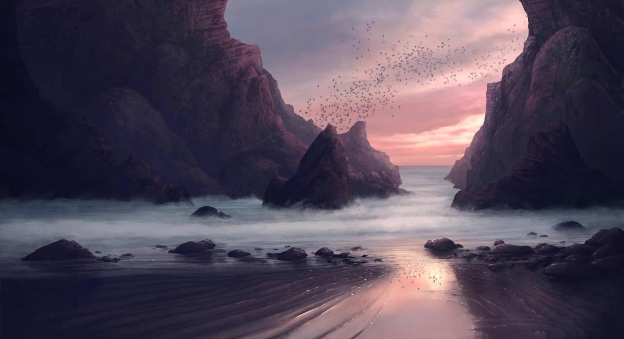 Hidden Beach by PytonPyton
