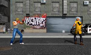 Axel vs Punk by DarkKso