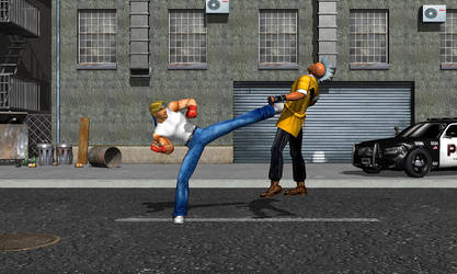 Axel vs Punk 2 by DarkKso