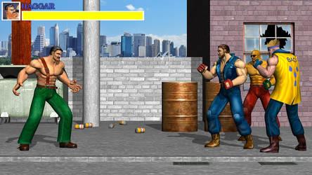 Haggar vs Punks by DarkKso