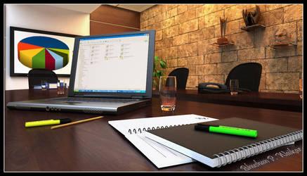 Board Room by waikar3d