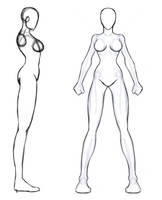 Female Model Sheet by Leviathan-Ryder