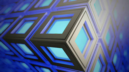 blue cubes  by MikNal117