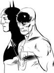 Batman and Daredevil Manga studio mess up by Paul-Moore