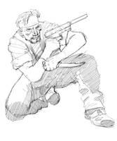 Metal Gear Solid Snake DSC sketch by Paul-Moore