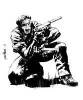 Metal Gear Solid Snake Inked up by Paul-Moore