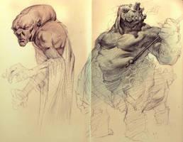 Moleskine Sketches by MikeAzevedo