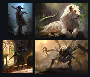 Speedpaintings by MikeAzevedo