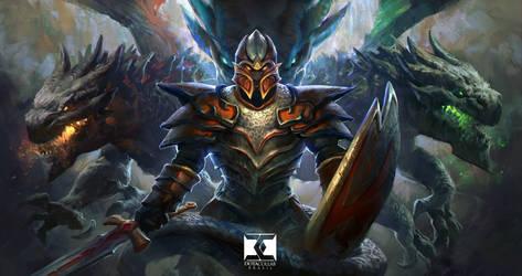 Dragon Knight - Dota 2 by MikeAzevedo