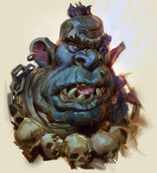 Ogre Portrait- with video process by MikeAzevedo