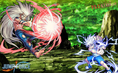 Jump Force Yusuke Urameshi vs killua by shota71