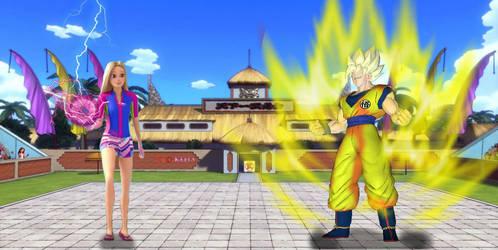 DragonBall Xenoverse barbie vs goku by shota71