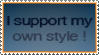 stamp - i support my own style by oceanmandarin
