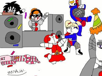 clown party by EliseCrazyHeart