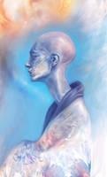 cyan meditation by Lusidus