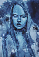 Girl in blue by Lusidus